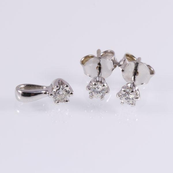 Gyémánt garnitúra 0.324 ct
