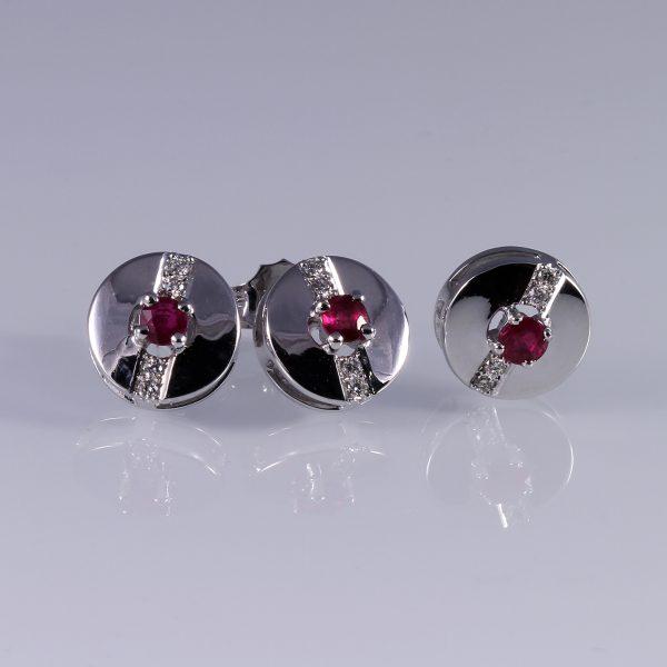 Gyémánt rubin garnitúra 0.599 ct