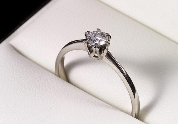 Eljegyzési gyémánt gyűrű 0.253 ct