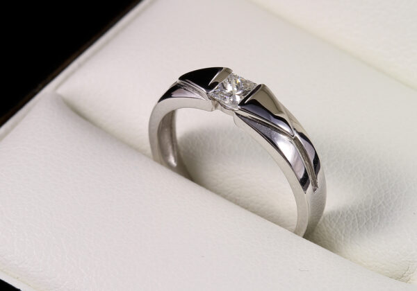 Eljegyzési gyémánt gyűrű 0.24 ct