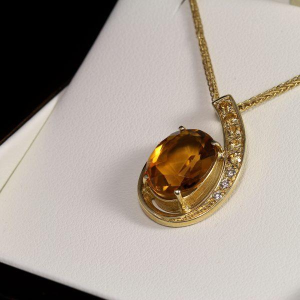 Gyémánt citrin medal 4.6 ct