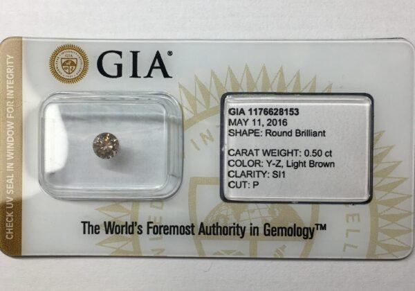 Természetes gyémánt SI1 LB 0.50