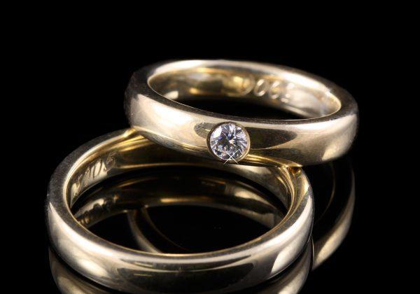 Gyémánt karikagyűrű 0.1