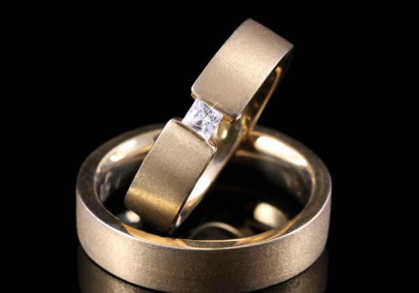 Princess gyémánt karikagyűrű 0.02 ct