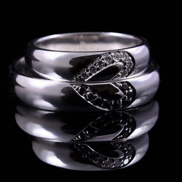 Gyémánt karikagyűrű 0.16 ct