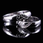 Gyémánt karikagyűrű 0.16 ct-al