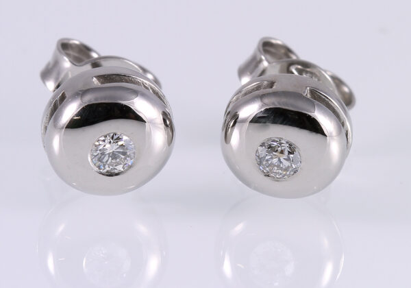 Gyémánt button fülbevaló 0.148 ct