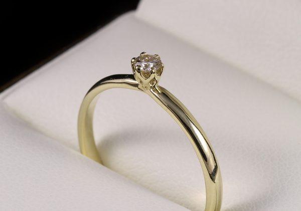 Eljegyzési gyémánt gyűrű 0.107
