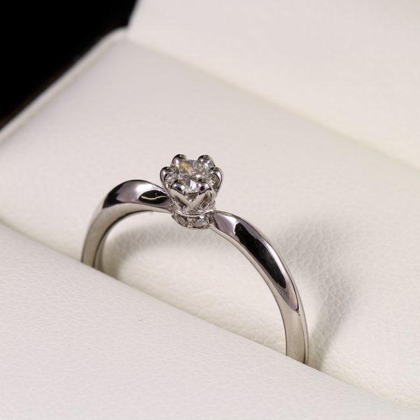 Eljegyzési gyémánt gyűrű 0.18 ct