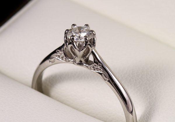 Arany eljegyzési gyémánt gyűrű 0.29 ct