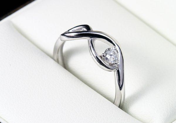 Gyémánt arany gyűrű 0.119 ct
