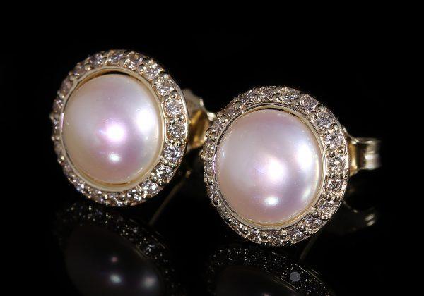 Gyémánt gyöngy fülbevaló 0.555