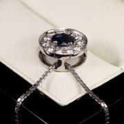 Gyémánt zafír medál 1.346 ct