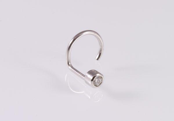 Gyémánt arany orr piercing SI Tcr 0.035