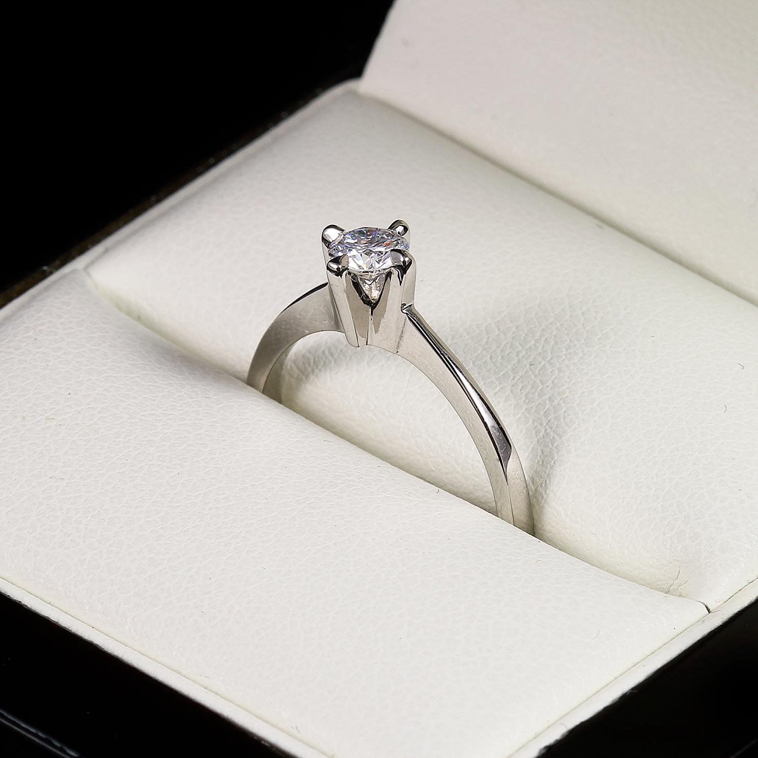 Eljegyzési gyémánt gyűrű 0.255 ct szoliter