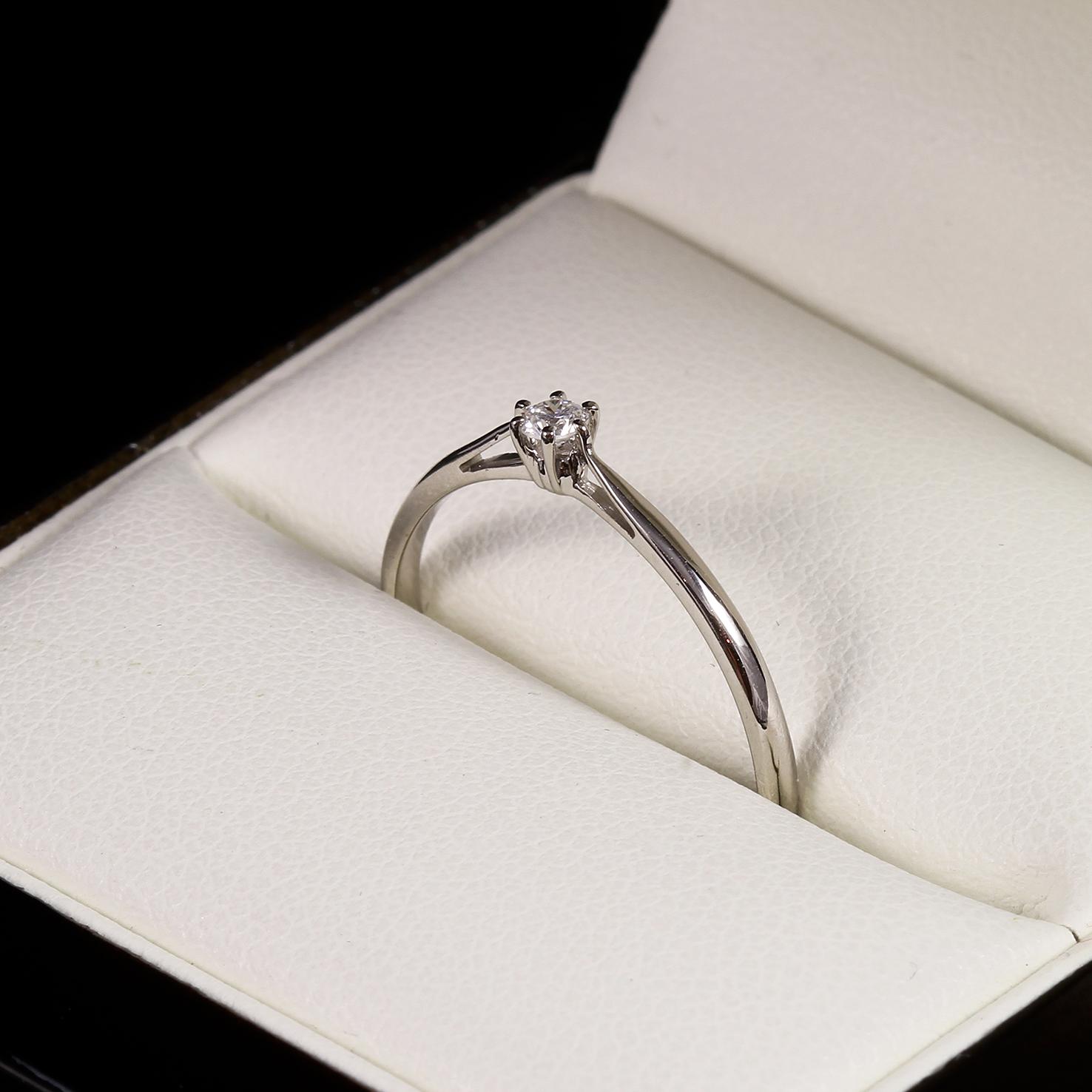 Eljegyzési gyémánt gyűrű 0.062 ct szoliter