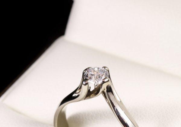 Eljegyzési gyémánt gyűrű 0.355 ct