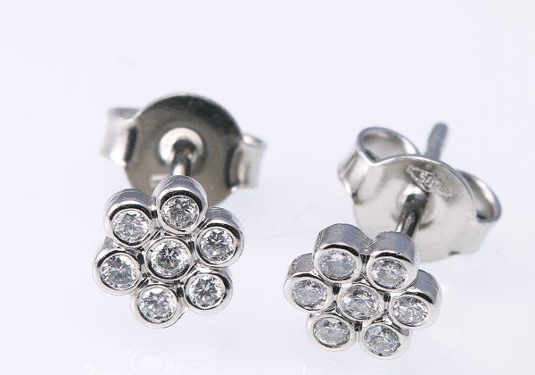 Gyémánt virág fülbevaló