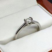 Eljegyzési fehér arany gyémánt gyűrű 0.28  b