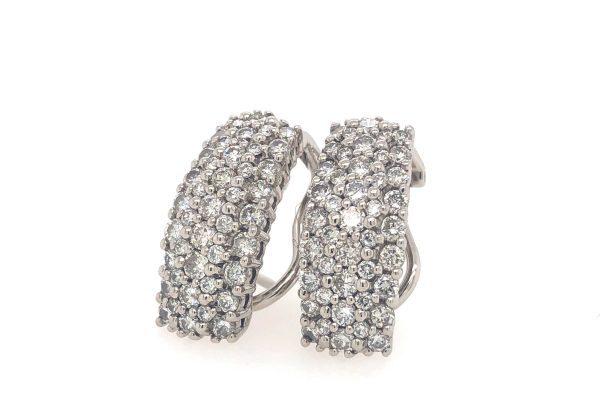 Luxus fehér arany gyémánt fülbevaló 1.9