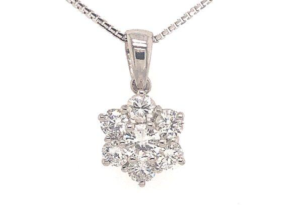 18SIk arany gyémánt medál 1.04 ct