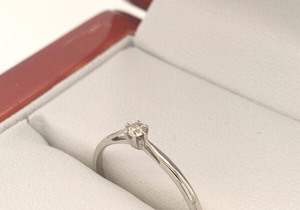 Eljegyzési gyémánt gyűrű 0.07 ct