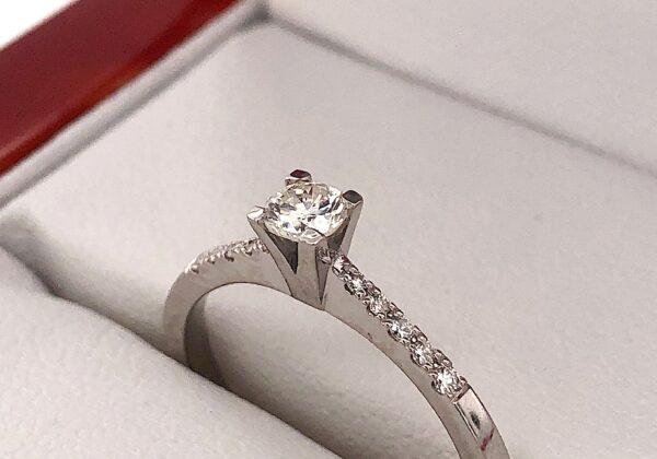 Eljegyzési gyémánt gyűrű 0.275