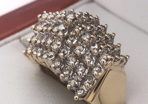 Multi köves gyémánt gyűrű