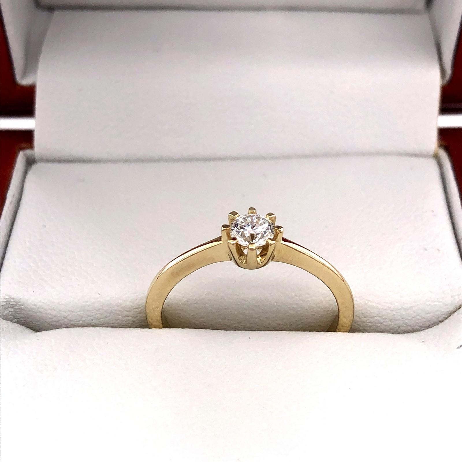 Eljegyzési gyémánt gyűrű 0.26 ct LAB